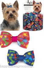 Aria Grosgrain Ribbon PUPPY LOVE Dog Groomer Grooming Bows Barette Bow 100ct*NEW