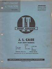 PRINTED 1954  I&T SHOP SERVICE J.I.CASE TRACTOR  FLAT RATE MANUAL