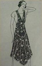 SALE Vintage Bib Apron Full Size Pattern 20s Flapper Style Fabric Craft Project