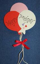 "February ""Happy Birthday"" Balloons, Foam Refrigerator Magnet, Made in the USA"