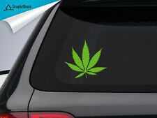 Marijuana Weed Cannabis Plant Leaf Car Decal Window Decal / Sticker Vinyl Decals