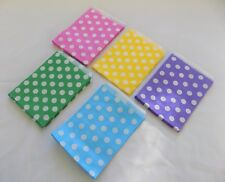"50 x POLKA DOT paper sweet bags blue green yellow pink lilac 5"" x 7""  Easter"