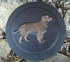 """Dog stepping stone mold reusable concrete plaster casting mould 9"""" x 1.5"""""""