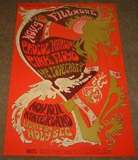 Pink Floyd Procol Harum - H.P. Lovecraft 1967 Poster 2nd Printing Fillmore Bg092