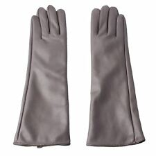 Ladies Elegant Lilac Faux Leather Long Gloves