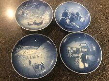 4 Royal Copenhagen Denmark Christmas Plates 1970 , 1971. 1972 ,1973
