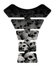 Skull Natural Gel Motorcycle Tank Pad tankpad tank protector guard Sticker Decal