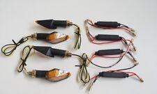 .FC1038 2 COPPIE FRECCE NERE LED + RES 10 W OMOLOGATE TM MOTO