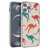 For Apple iPhone 12 Pro Max Silicone Case Australia Kangaroo Pattern - S5966