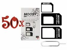 50xNOOSY 4 IN 1 Pack Nano To Micro & Standard Sim Card Adapter For Mobile Phones