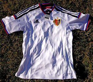 FC BASEL Herren Trikot Jersey Maglia ADIDAS Größe M-XL weiss NEU 1893 Schweiz