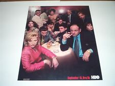 glossy 8x10 photo of the Sopranos family television show