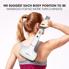 Electric Handheld Neck Back Massager Deep Tissue Massager with Infrared Heating
