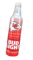 EMPTY BUD LIGHT ALUMINUM BOTTLE CHIEFS SUPER BOWL 54 CHAMPIONS
