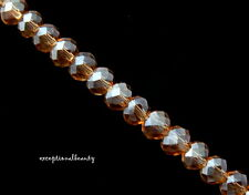 140 Celestial Crystal Faceted Colorado Topaz Tiny 4x3mm Rondelle Spacer Beads