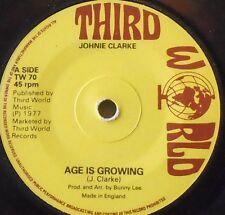 """JOHHNY CLARKE - Age Is Growing ~ 7"""" Single"""