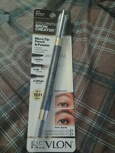 REVLON Colorstay Brow Creator Micro Pencil Powder & Brush #610 Dark Brown   New!