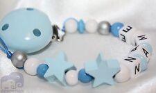 Personalizado Muñeco De Madera Clip de dos estrellas de Cadena/Correa bebé presente