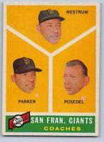 1960  SAN FRANCISCO GIANTS Coaches - Topps Baseball Card # 469 - HIGH #