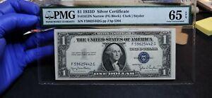 Fr.1613N $1 1935 D Narrow Silver Certificate (F-G Block) PMG GEM 65 EPQ