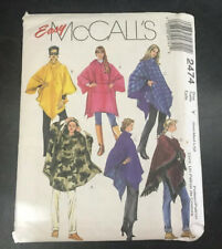 Easy McCalls Sewing Pattern 2474 Sm/med/large. Uncut Ponchos