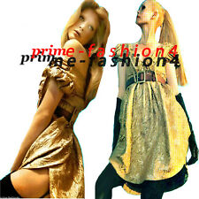 Dolce & Gabbana  Gold  Brocade  Empire Waistline Cap Sleeves  Dress 80% OFF