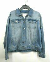 Rachel Parcell Womens Classic Denim Jacket Long Sleeve Spread Collar Cotton