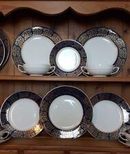 Wood & Sons Castile Blue 1950s Part Dinner Service Vintage Excellent Condition