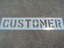 "12"" Customer Parking Lot Stencil, 1/16"" Ldpe Nicely Spaced. Easy to Read."
