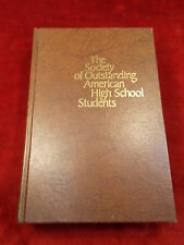 """VTG 1972 BOOK """"THE SOCIETY OF OUTSTANDING HIGH SCHOOL STUDENTS"""" RON BASS OWNED"""