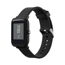 Cinturino 20mm silicone fibbia acciaio bracciale NERO per Xiaomi Amazfit Bip DA0