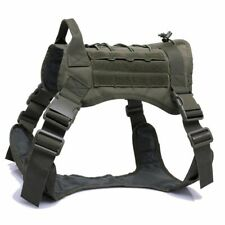 Nylon Pet Dog Harness Army Tactical Vest Large Adjustable Clothe With Handle New