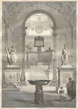 A5547 Antichità rinascimentali - Xilografia - Stampa Antica del 1850 - Engraving