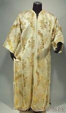 VINTAGE Moroccan metallic gold brocade caftan kaftan robe ethnic dress Ottoman