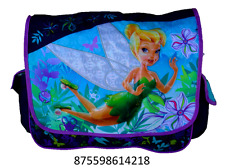 "Disney Tinker Bell Fairy 15"" Messenger Blue Tote Shoulder Diaper Book Bag -1570"