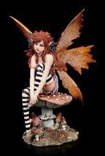 Elfen Figur - Maine auf Pilz - Amy Brown Fantasy Fee Naturelfe Herbst Dekostatue