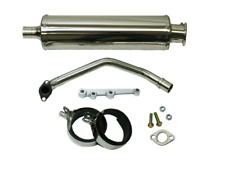 SSP-G 2nd Gen GY6 125 150cc Round Stainless Performance Exhaust QMJ152 QMJ157