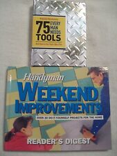 Handyman/Do-it-Yourself Books Lot 2 Weekend Projects Book + 75 Tools You Need