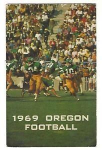 1969 University of Oregon Ducks Football Pocket Schedule