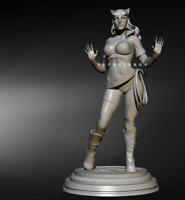 1/24 75mm Resin Figure Unpainted Model Kit Catwoman Queen Soldier unassembled