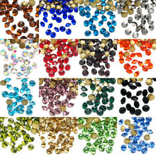 1440pcs Top Quality Pointed Gold Foiled Back Czech Glass Crystal Rhinestones b093715fb0b8