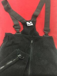 US MILITARY POLARTEC Black Fleece Cold Weather Overalls Large Long Good Cond.