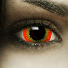 "Mini Sclera Lenses ""Ork"" rote Kontaktlinsen Crazy Farbige Halloween Linsen"