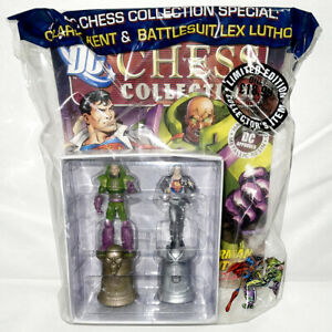 EAGLEMOSS CHESS COLLECTION SUPERMAN LEX LUTHOR FIGURINES & MAGAZINE SPECIAL NEW