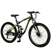 "2019 Full Suspension Mountain Bikes Shimano 21 Speed Mens Bicycle 27.5"" MTB"