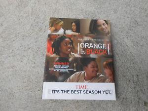 NETFLIX-ORANGE IS THE NEW BLACK-SEASON 4-COMPLETE-4 DVD PRESSBOOK-FYC-EMMY-LN