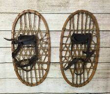 Vintage Original 1943 LUND WWII Military Issue Snow Shoes Wooden Mountain Hiking