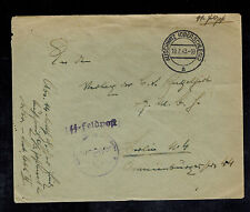 1943 Germany Auschwitz Concentration Camp SS Feldpost Guard Cover KZ to Lublin