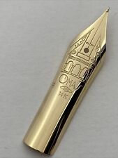Brand new, never used Omas SAMO 14k Yellow Gold EF size Nib 3.2 cm long (29)
