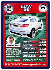 BMW X6 #308 Top Gear Turbo Challenge Trade Card (C362)